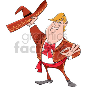 Donald Trump dressed spanish outfit clipart. Royalty-free image # 408422