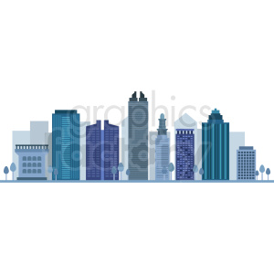miami city skyline vector clipart. Commercial use image # 408520