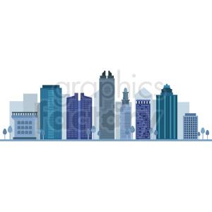 miami city skyline vector clipart. Royalty-free image # 408520
