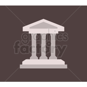 museum building vector icon clipart. Commercial use image # 408523