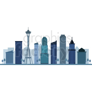 seattle skyline vector design clipart. Commercial use image # 408598