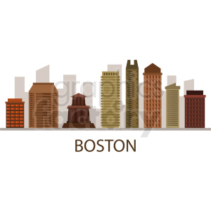 boston downtown city skyline vector clipart. Royalty-free image # 408603