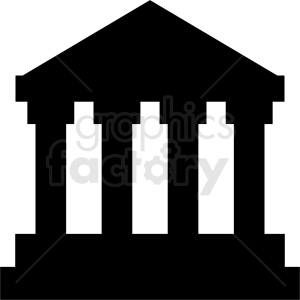 black museum vector icon no background clipart. Commercial use image # 408610