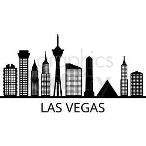 black and white las vegas strip vector clipart. Commercial use image # 408618