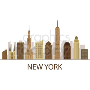 new york city flat vector design with label clipart. Royalty-free image # 408638