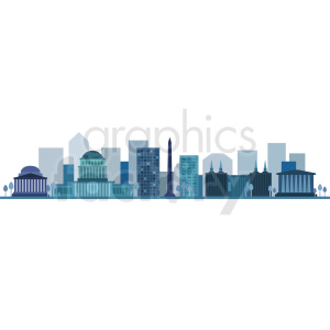 washington city skyline vector design no label clipart. Commercial use image # 408640