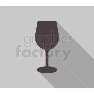 wine glass on gray background