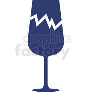 broken wine glass icon clipart. Commercial use image # 408683