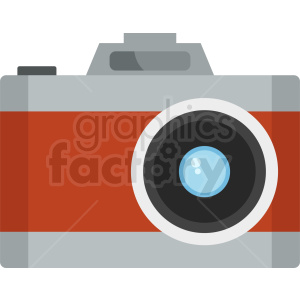 vector camera flat icon clipart. Royalty-free image # 408689