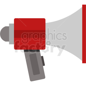 megaphone flat vector icon clipart. Commercial use icon # 408691