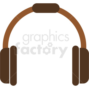 brown headphones icon clipart. Commercial use image # 408702