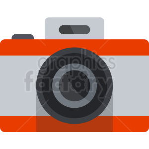 orange vector camera icon clipart. Commercial use image # 408709