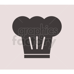 chef hat vector icon on light background clipart. Royalty-free image # 408738
