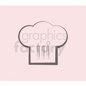 chef hat outline vector icon on dark background clipart. Commercial use image # 408740