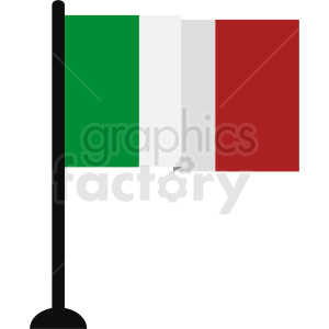 italian flag no background clipart. Royalty-free image # 408773