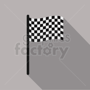 checkered flag icon on square background clipart. Royalty-free image # 408790