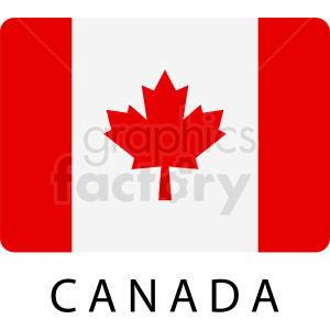 canada rectangle icon clipart. Royalty-free image # 408798