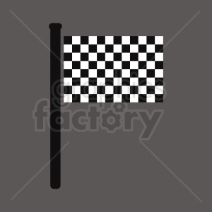 checkered flag on dark square background clipart. Commercial use image # 408820