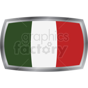 italian flag icon design clipart. Royalty-free image # 408850