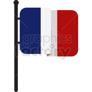 french flag icon design clipart. Royalty-free image # 408868