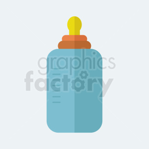baby bottle icon on light background
