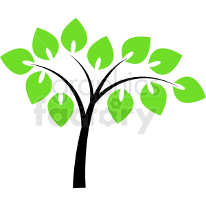 vector tree clipart. Commercial use image # 408900