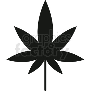 vector marijuana leaf silhouette design clipart. Royalty-free image # 408913