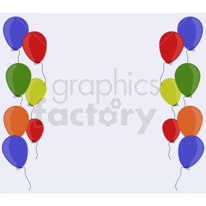 party balloons light background clipart. Commercial use image # 408953