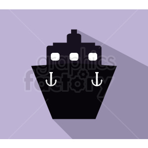 ship icon design on purple background clipart. Commercial use image # 408960