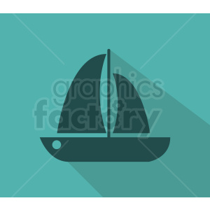 sail boat icon design on aqua background clipart. Royalty-free image # 408973