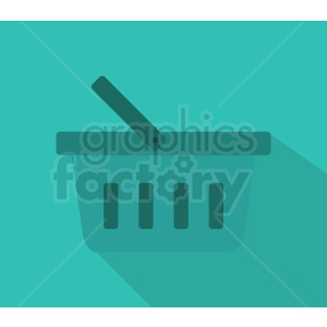 picnic basket icon design on ocean blue background clipart. Royalty-free image # 408980