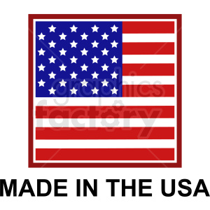 square made in the usa icon clipart. Commercial use image # 409043