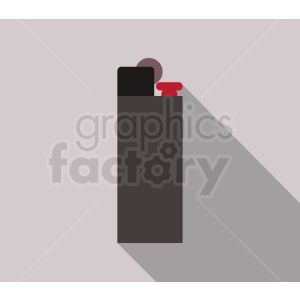 cartoon lighter on gray background