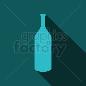 bottle silhouette on aqua background clipart. Royalty-free image # 409091