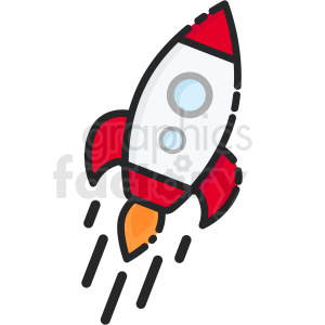 rocket ship icon clipart. Royalty-free image # 409179