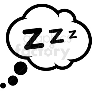 sleep dream cloud icon vector clipart. Commercial use image # 409197