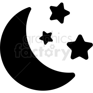 moon stars night icon clipart. Royalty-free image # 409199