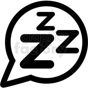 sleep bubble left icon clipart. Commercial use image # 409207
