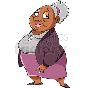 African American older woman cartoon clipart. Royalty-free image # 409269