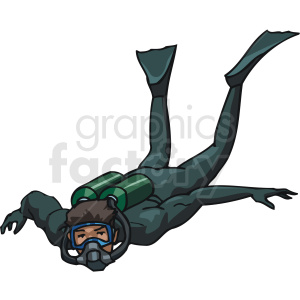 male scuba diver clipart. Commercial use image # 169968