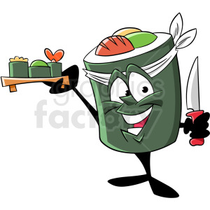 sushi chef cartoon character clipart. Royalty-free image # 409286