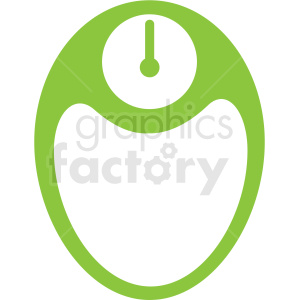 body scale green icon clipart. Commercial use image # 409363