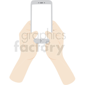 two hands texting on phone vector clipart no background clipart. Royalty-free image # 409443
