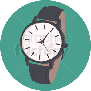 vector wrist watch on aqua background clipart. Royalty-free image # 409477