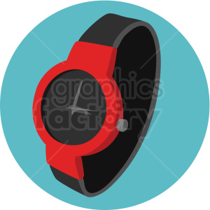 red watch on aqua background clipart. Royalty-free image # 409480