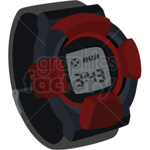 vector gshock wrist watch no background clipart. Royalty-free image # 409490