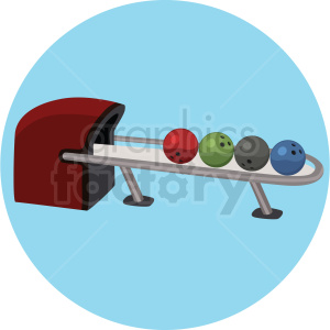 bowling ball machine vector clipart on circle background clipart. Commercial use image # 409503