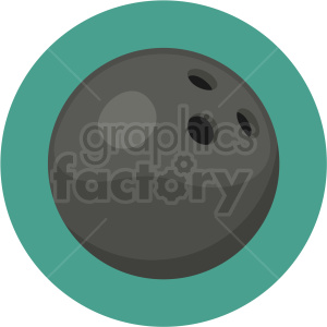 bowling ball vector clipart on circle background clipart. Royalty-free image # 409533