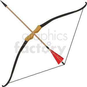 bow and arrow weapon vector clipart clipart. Royalty-free image # 409539