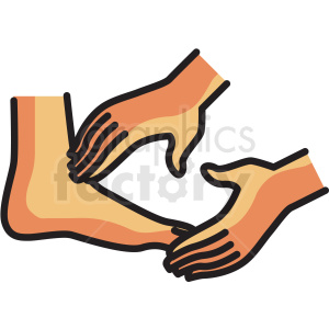 foot massage vector icon clipart clipart. Royalty-free image # 409599